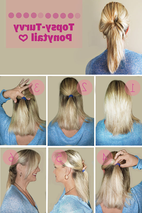 Hairstyle Tutorial: Topsy Turvy Ponytail – Hair Romance With Romantic Ponytail Updo Hairstyles (View 9 of 25)