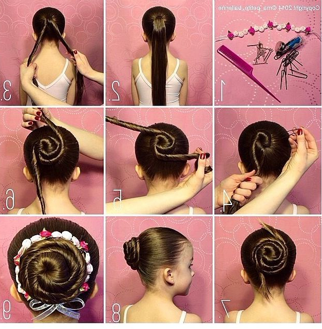 Hairstyles | Dance Stuff In 2019 | Ballet Hairstyles, Dance Pertaining To Best And Newest Cinnamon Bun Braided Hairstyles (View 2 of 25)