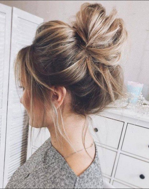 Hairstyles: Messy Buns | Bellatory Throughout Messy Bun Hairstyles (View 2 of 25)