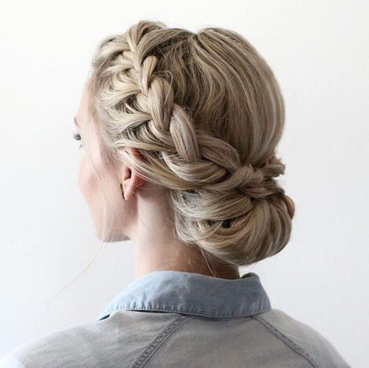 Half Updo With Dutch Braids | Hairstyles In 2019 | Braided In Dutch Braid Bun Hairstyles (View 25 of 25)