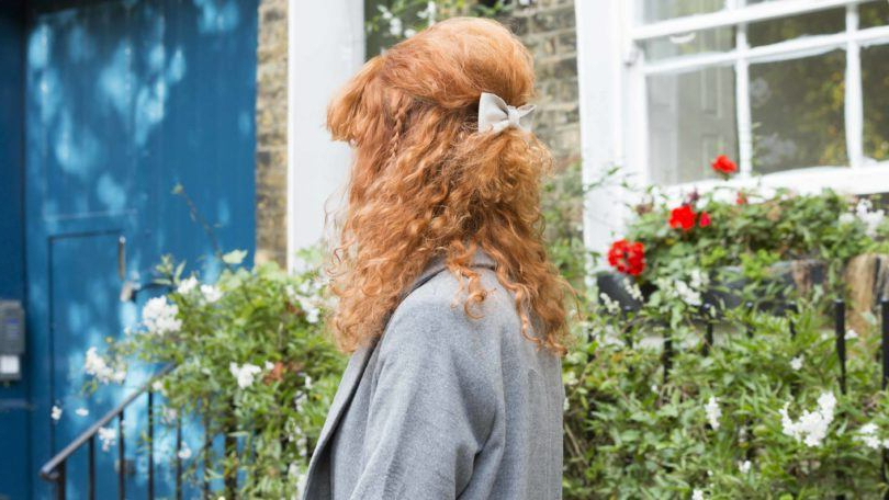 Half Updos For Curly Hair: Mini Bouffant With Braids Tutorial Inside Most Popular Braids And Bouffant Hairstyles (View 20 of 25)