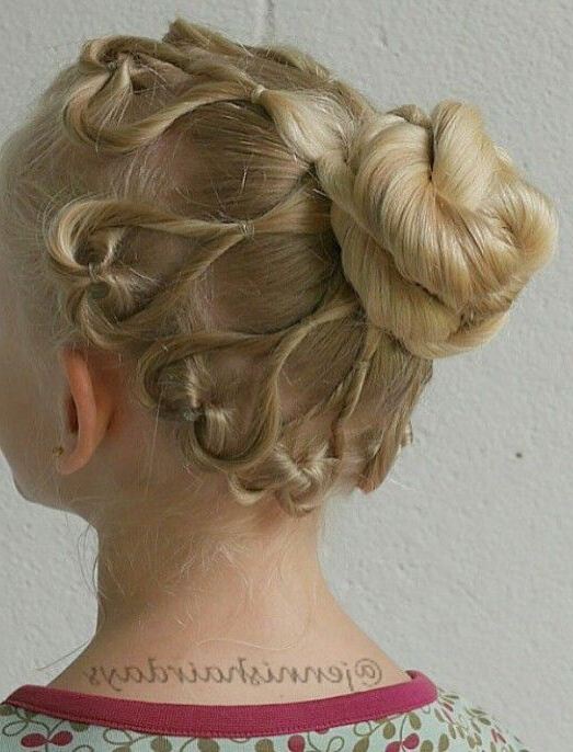 Heart Shaped Stacked Bun Updo Hairstyle For Girls Inside Stacked Buns Updo Hairstyles (View 8 of 25)