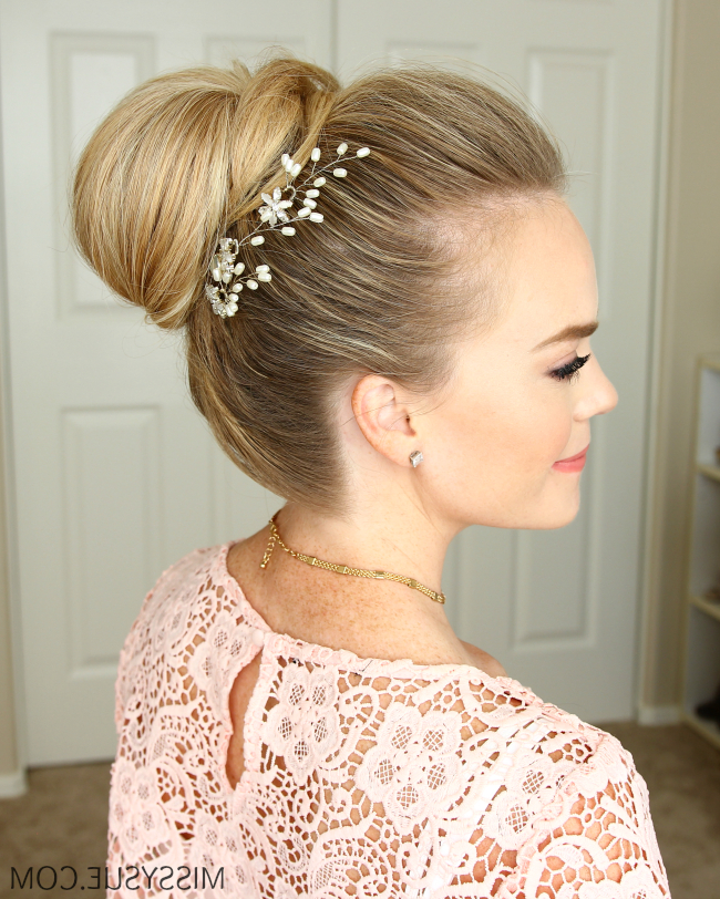 High Bun Hairstyles Best Short Hairstyles, Haircuts, And Pertaining To High Bun Hairstyles With Braid (View 16 of 25)