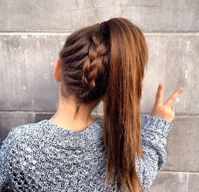 High Ponytail With Braided Underside – Adorable! ~ We Pertaining To Most Recent Braided Underside Hairstyles (View 10 of 25)