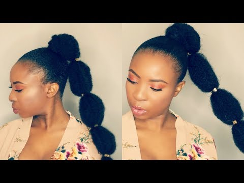 How To | Bubble Ponytail On Short Natural Hair | Tondie With Regard To Natural Bubble Ponytail Updo Hairstyles (View 12 of 25)