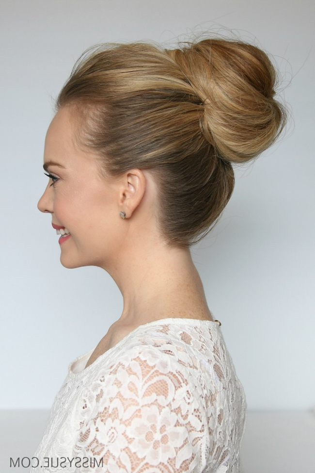 How To Clip In Extensions For Different Hairstyles | Missy Sue With Regard To Stacked Buns Updo Hairstyles (View 19 of 25)