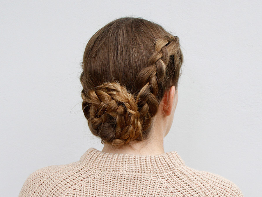 How To Create A Braided Chignon – More Within 2020 Braided Chignon Hairstyles (View 9 of 25)