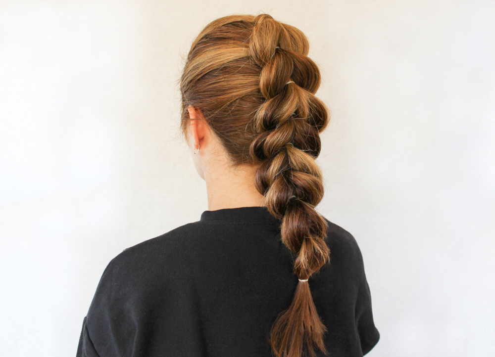 How To Create A French Pull Through Braid In Pull Through Ponytail Updo Hairstyles (View 9 of 25)
