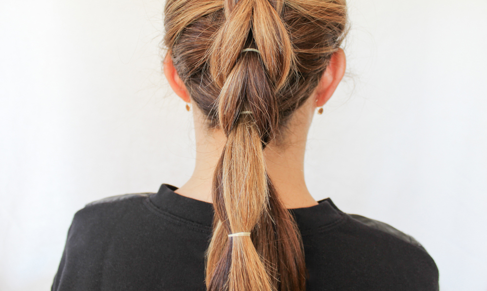 How To Create A French Pull Through Braid With Regard To Bubble Braid Updo Hairstyles (View 24 of 25)