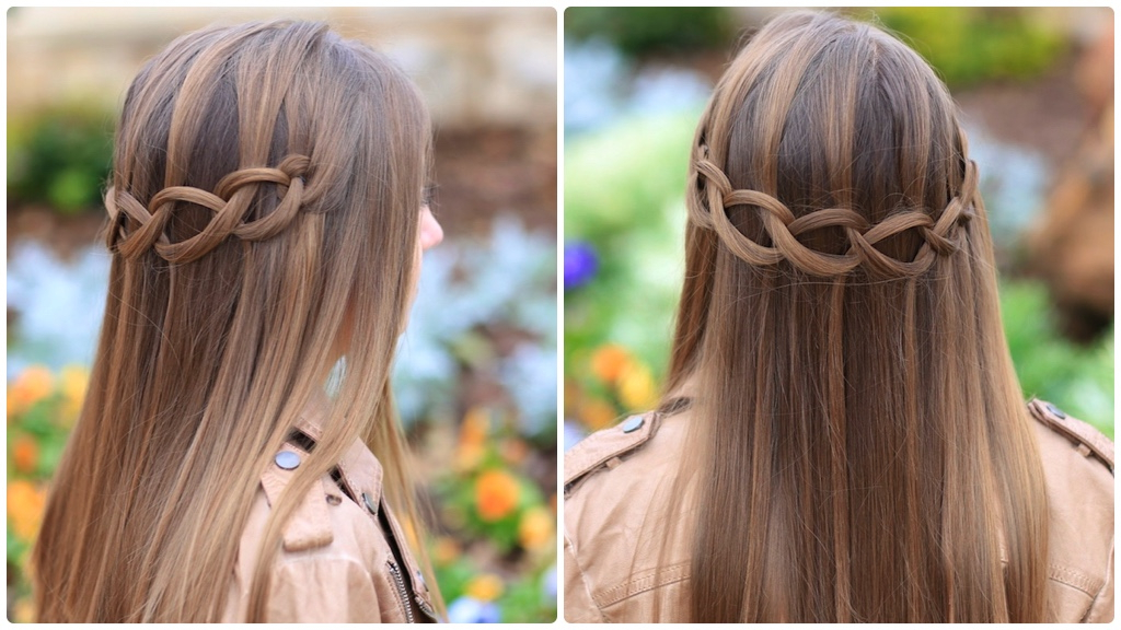How To Create A Loop Waterfall Braid | Cute Girls Hairstyles Throughout Waterfall Braids Hairstyles (View 25 of 25)