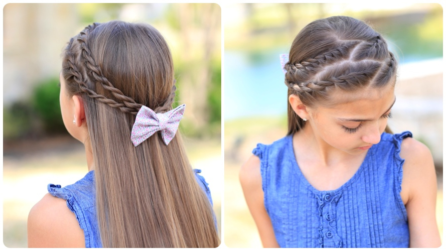 How To Create A Zig Zag Twistback | Cute Hairstyles | Cute Pertaining To Zig Zag Ponytail Updo Hairstyles (View 23 of 25)