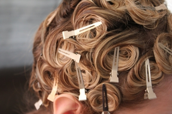 How To Curl Hair Extensions Using Pin Curls / Pauls Hair World Inside Pinned Curls Hairstyles (View 23 of 25)