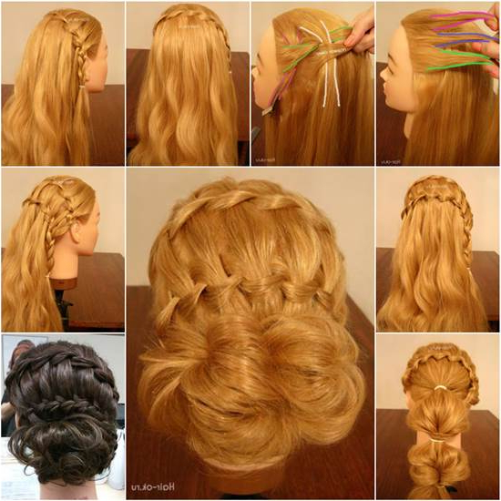 How To Diy Double Waterfall Braided Bun Hairstyle Regarding Recent High Waterfall Braided Hairstyles (View 22 of 25)