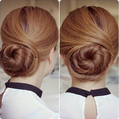 How To Diy Elegant Twisted Hair Bun Hairstyle With Swirl Bun Updo Hairstyles (View 18 of 25)