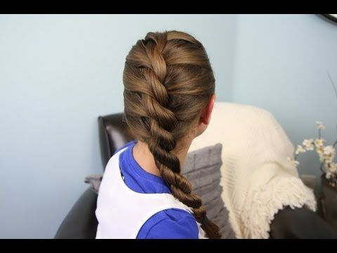 How To Diy Twisted Rope Braid Hairstyle | Hair | Kids Intended For Twisted Rope Braid Updo Hairstyles (View 7 of 25)