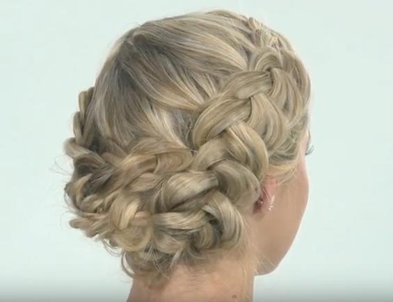 How To: Dutch Braid Updo – Behindthechair Regarding Dutch Braid Bun Hairstyles (View 23 of 25)