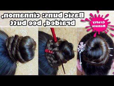 How To – Easy Long Hair Styles: Cinnamon Bun, Bee Butt Bun, Braided Cinnamon Bun For Current Cinnamon Bun Braided Hairstyles (View 16 of 25)