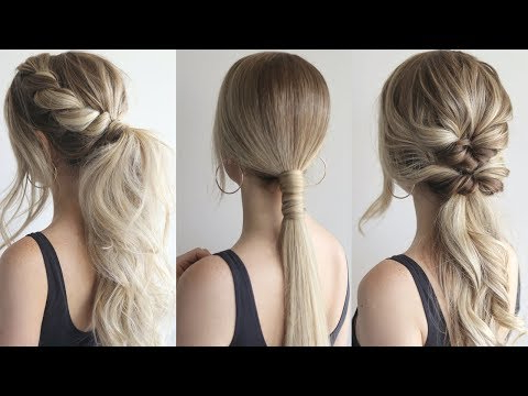 How To: Easy Ponytails | Perfect Prom Hairstyles 2019 – Youtube With Regard To Low Ponytail Hairstyles (View 13 of 25)