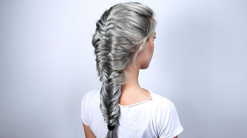 How To Fishtail Braid Your Hair – The Trend Spotter Inside Most Recent Fishtail Braid Pontyail Hairstyles (View 12 of 25)