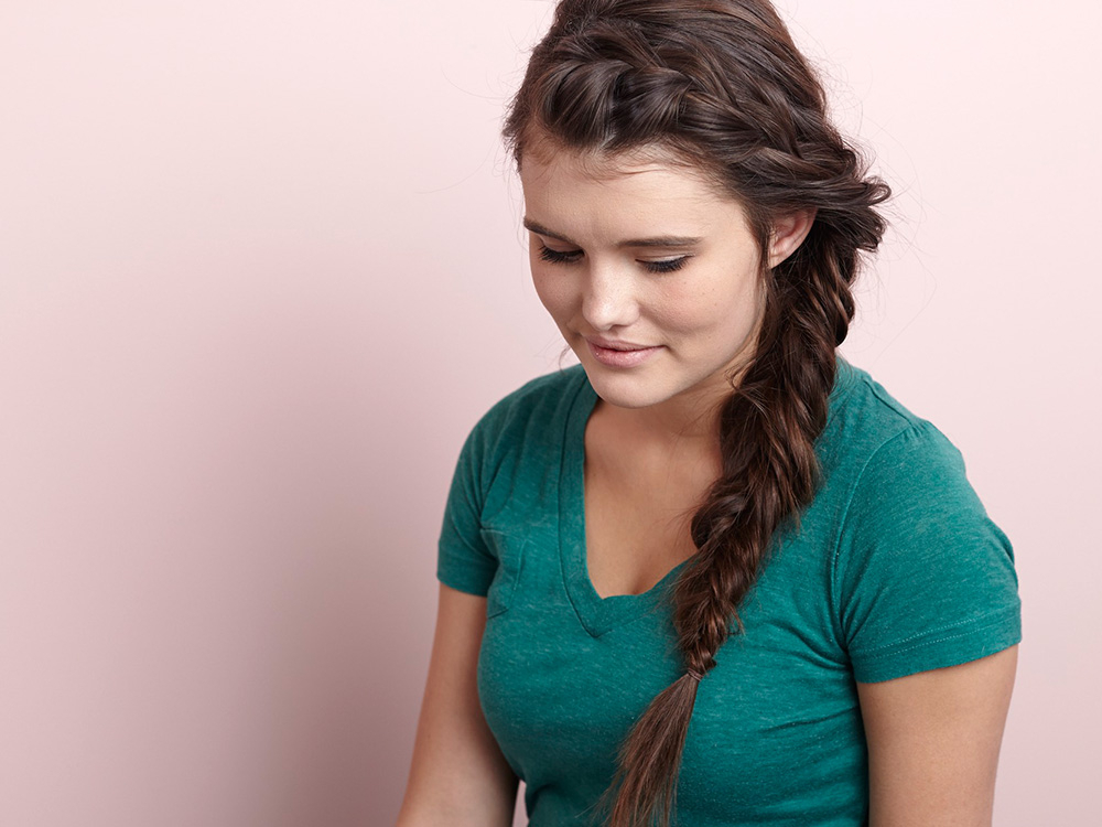 How To French Braid Into A Side Fishtail Braid – More For Current Messy Side Fishtail Braided Hairstyles (View 23 of 25)
