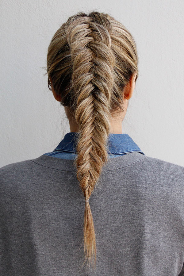 How To Get An Inverted Fishtail Braid That's Sure To Impress Regarding Most Popular Ponytail Fishtail Braided Hairstyles (View 16 of 25)