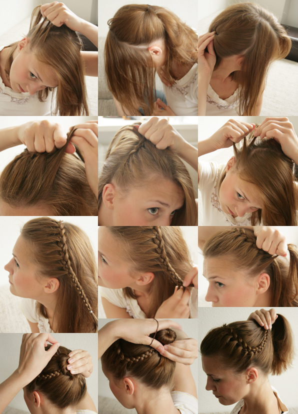 How To Make Braided Headband Updo Hairstyle – Diy Tutorials Throughout Most Current Full Headband Braided Hairstyles (View 16 of 25)