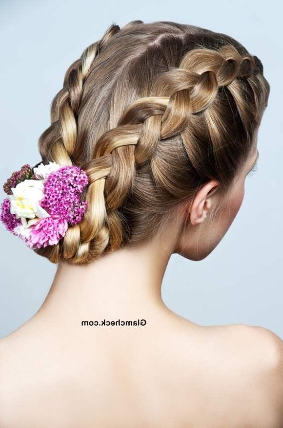 How To Make Two Row Dutch Braids And Bun Hairstyle Regarding Dutch Braid Bun Hairstyles (View 12 of 25)