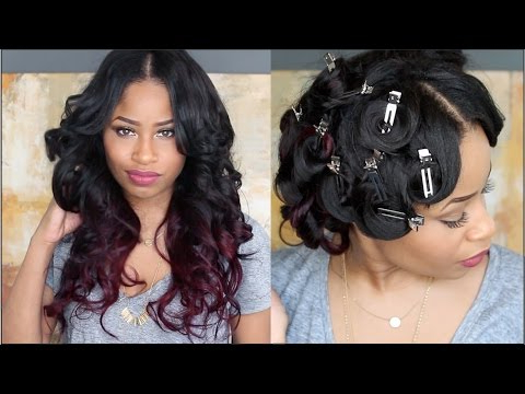 How To: Pin Curl That Hair ! – Youtube Within Pinned Curls Hairstyles (View 5 of 25)