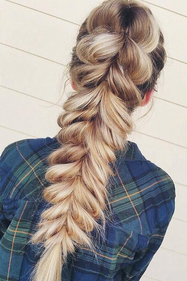 How To: Pull Through Braid | Hair Inspiration | Prom Throughout Pull Through Ponytail Updo Hairstyles (View 15 of 25)
