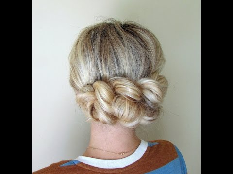 How To: Pull Through Braid With Teased Fishtail Bun Updo Hairstyles (View 10 of 25)