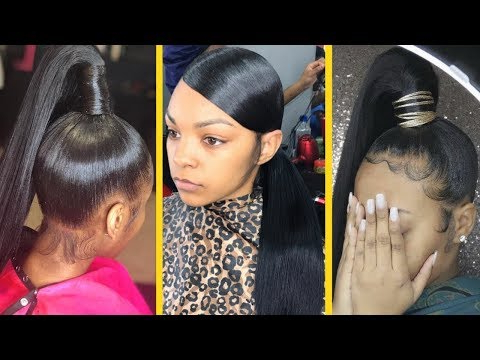 How To: Sleek Low & High Ponytail On Natural Hair With Regard To Natural High Ponytail Updo Hairstyles (View 15 of 25)