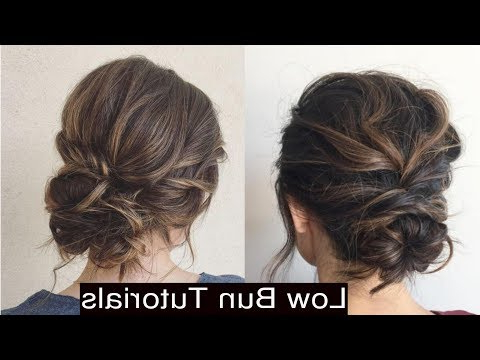 How To Style Cute Low Messy Bun Updo Hairstyles – Youtube Inside Messy Bun Hairstyles (View 11 of 25)