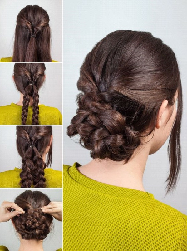 How To Style The Braided Chignon Hairstyle | Makeup Mania Regarding Most Recent Braided Chignon Hairstyles (View 7 of 25)