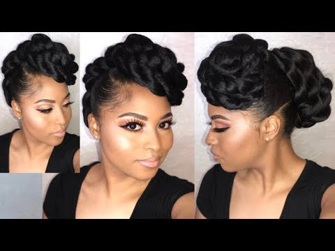 How To| Twisted Faux Hawk Updo Tutorial Natural Hair Using Kanekalon Hair |Protective Styling Within Twisted Faux Hawk Updo Hairstyles (View 4 of 25)