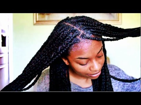 How To Wash Box Braids Without Creating Frizz Highly Requested! Regarding Best And Newest Shaved Platinum Hairstyles With Micro Braids (View 16 of 25)