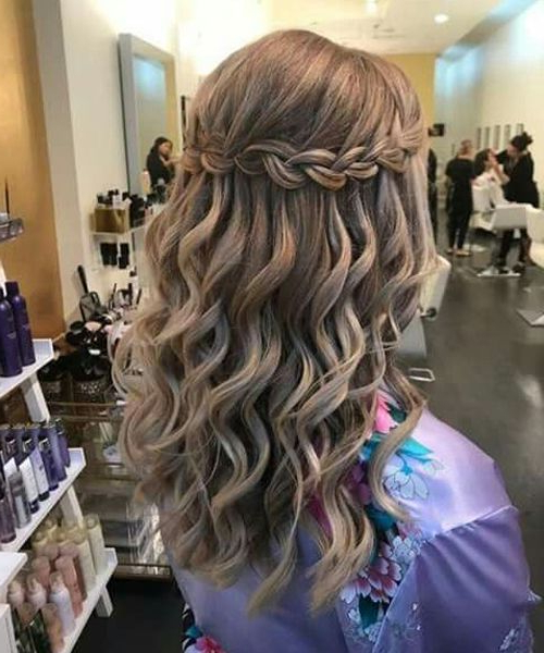 Ideal Waterfall Braided Hairstyles 2019 That Are Simply Within Most Recent High Waterfall Braided Hairstyles (View 12 of 25)