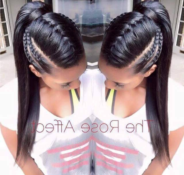 Inverted Donkey Tail | Hair I Love In 2019 | Long Hair Pertaining To Braided Ponytails Updo Hairstyles (View 15 of 25)