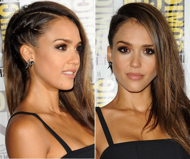Jessica Alba's Faux Undercut: Fake The Look | Hair & Beauty inside Most Current Faux Undercut Braided Hairstyles