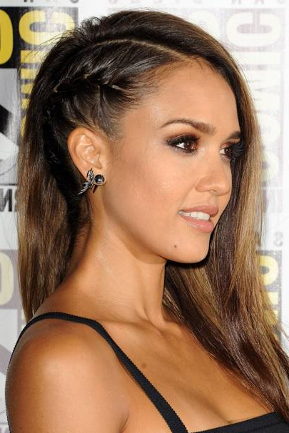 Jessica Alba's Faux Undercut Hairstyle – Renato Campora Throughout Most Up To Date Faux Undercut Braided Hairstyles (View 18 of 25)
