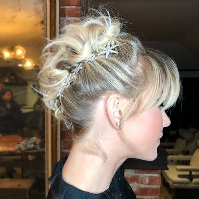 Julianne Hough's 37 Best Hairstyles Of All Time, In Photos for Stacked Buns Updo Hairstyles