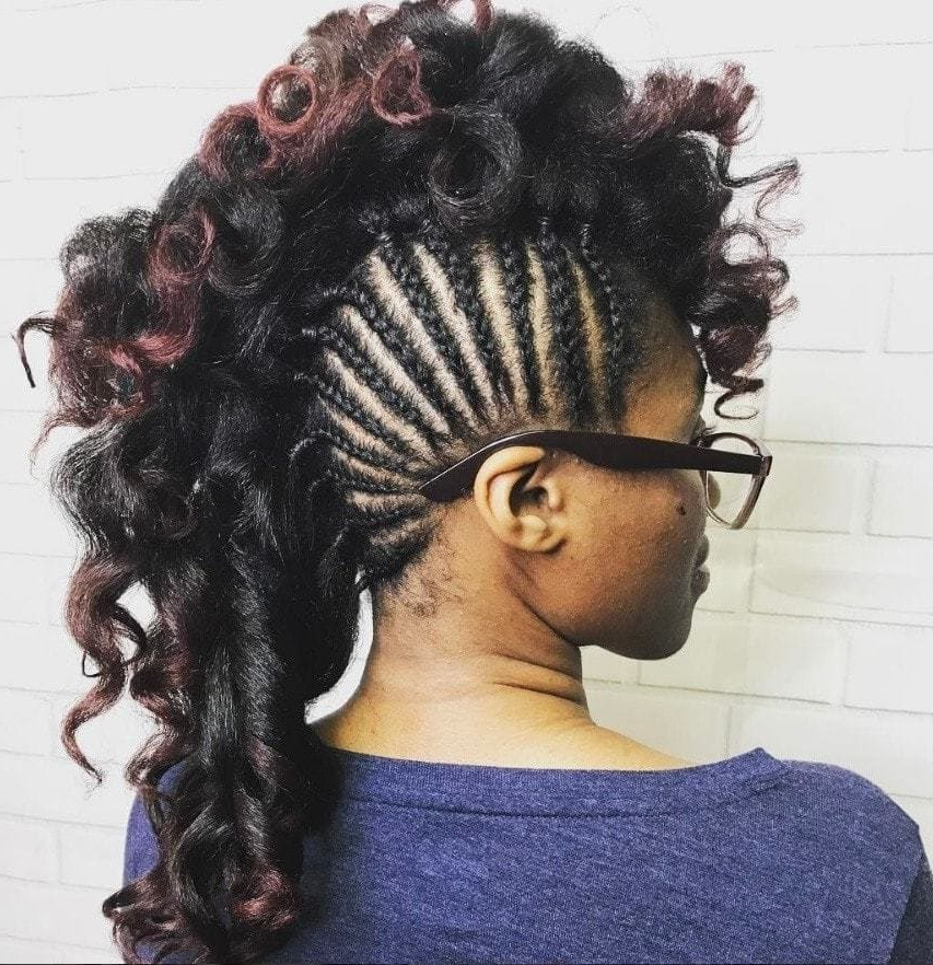 Keepin' It Edgy: 11 Faux Hawk Braid Styles For A Bold Look With Regard To Most Popular Faux Hawk Braided Hairstyles (View 7 of 25)