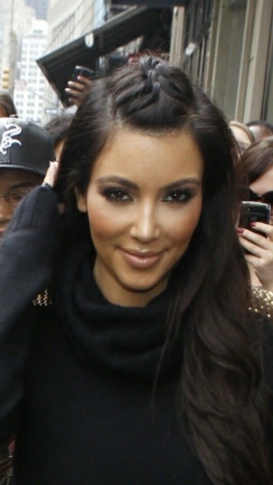 Kim Kardashian Middle Braid | Braids For Days | Kim For Latest Center Part Braided Hairstyles (View 9 of 25)