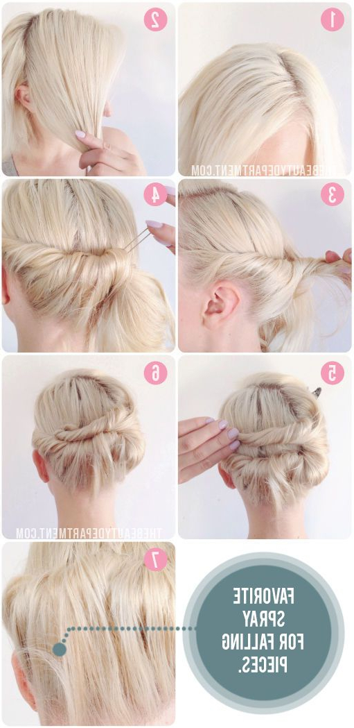 Knot Tie Updo For Short Hair | Skin/hair/health | Short Hair In Tie It Up Updo Hairstyles (View 3 of 25)