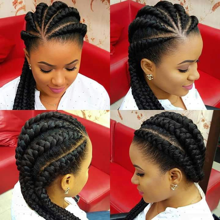 Latest Awesome Ghana Braids Hairstyles | Hair | Ghana Braids Intended For Most Popular Thick Cornrows Braided Hairstyles (View 12 of 25)