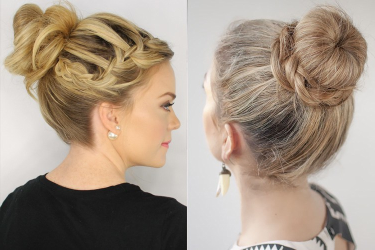 Latest Trends Top Knot Hairstyles Fashion For All Hair Types In Newest Braided Top Knot Hairstyles (View 22 of 25)