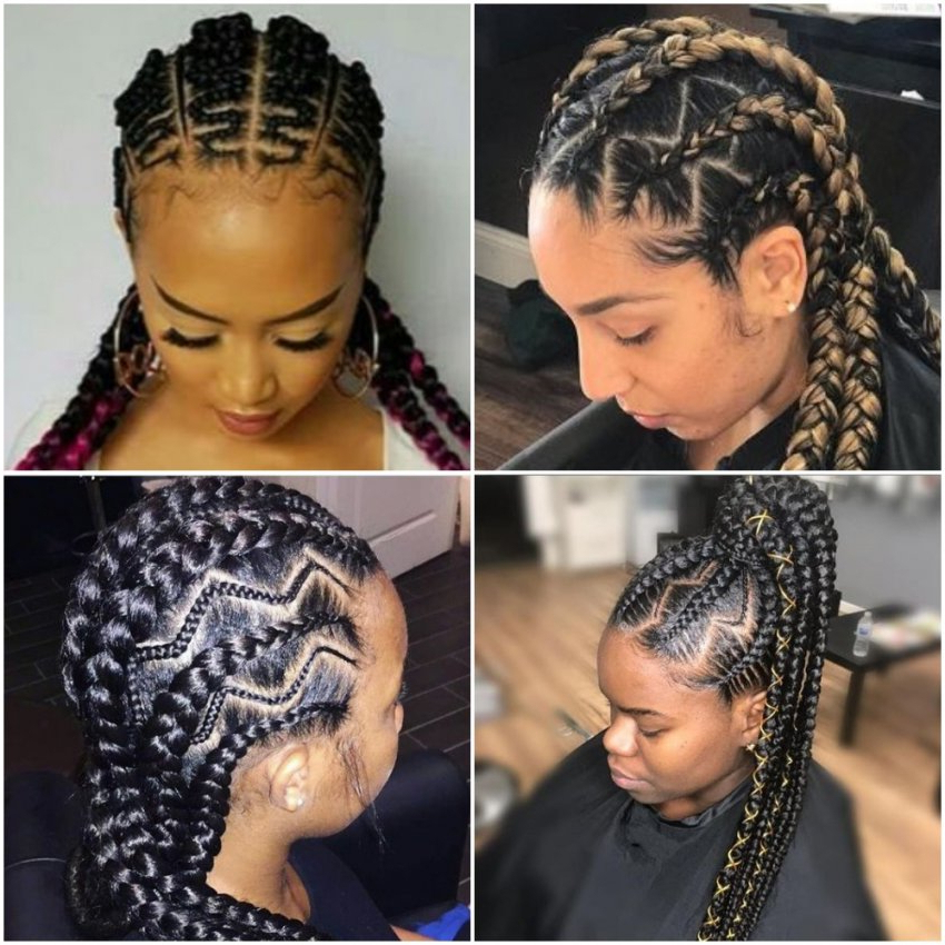 Latest Zig Zag Weaving Hairstyles 2018 |Photos |Fabwoman Intended For Most Up To Date Zig Zag Cornrows Braided Hairstyles (View 23 of 25)