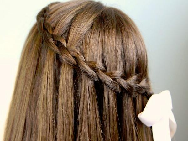 Long Hair Waterfall Braid | Sophie Hairstyles – 9752 Regarding Waterfall Braids Hairstyles (View 16 of 25)