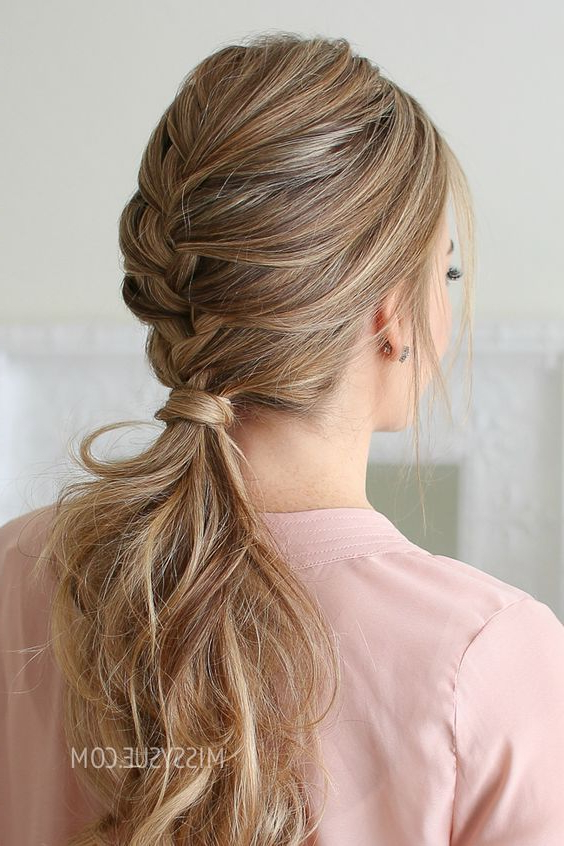 Lovely French Braid Hair To Amazing Women 2019 In 2019 Inside Best And Newest Asymmetrical French Braided Hairstyles (View 2 of 25)