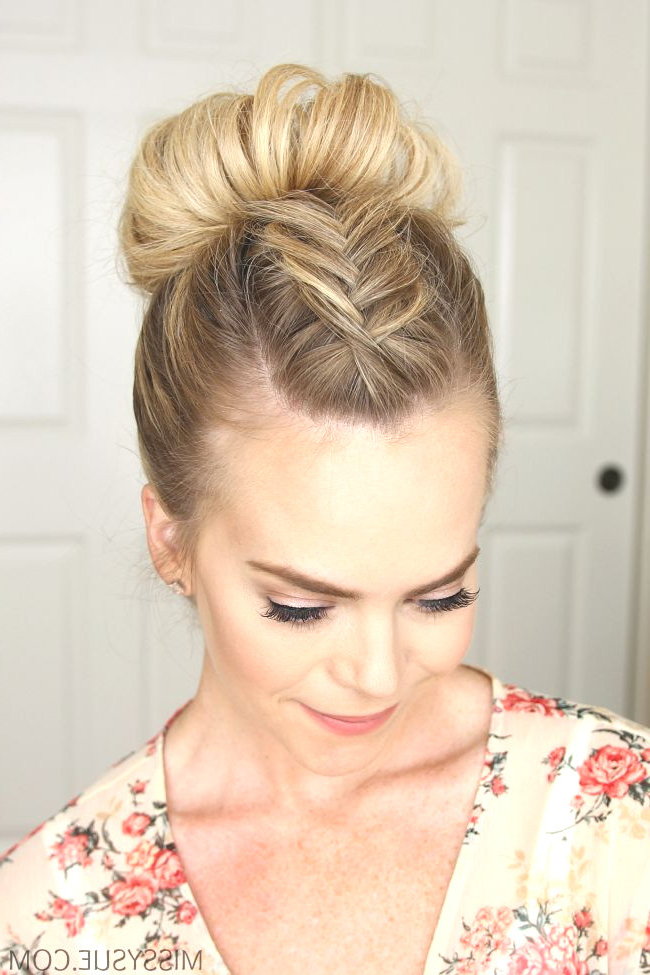 Lovely High Bun Hairstyles – Agarioplay Throughout High Bun Hairstyles With Braid (View 20 of 25)
