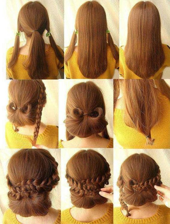 Low Braided Bun Updos Tutorials | Hairstyles | Hair Hacks Intended For Low Braided Bun Updo Hairstyles (View 2 of 25)